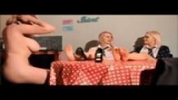 2 young mistress use lesbian feet slave