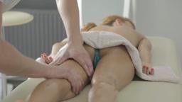 massage blonde girl
