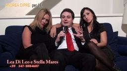 Andrea Diprè con Lea di Leo ed Helen Cruz (Stella Mares)