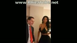 Filmato Jasmine Mendez destroys Andrea Dipèe balls (squeezing) + photos
