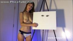 ASMR - Mia Gunn – Topless Canvas  ASMR Desire