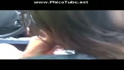 Ma copine Celine et moi dans la voiture