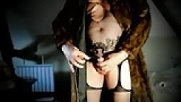Transvestite toy sounding urethral and pantyhose nylon 4