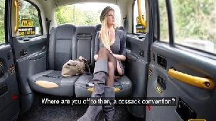 Fakehub - Faketaxi - Busty blonde MILF fucks taxi cock
