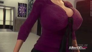 Lesbian futanari cosplay 3d animation