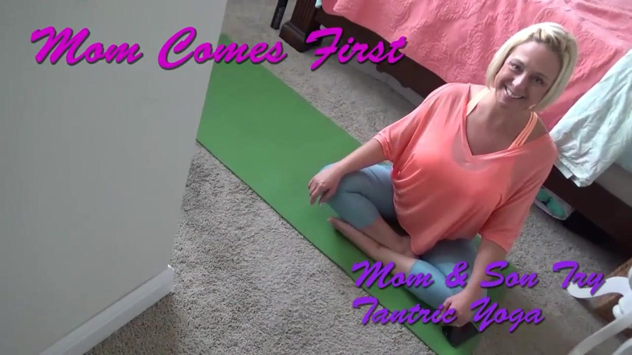 Brianna Beach - Mom & Son try tantric yoga - Mom comes first