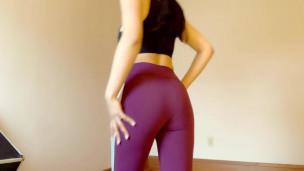 Nina Selina Workout Gear Masturbation 1